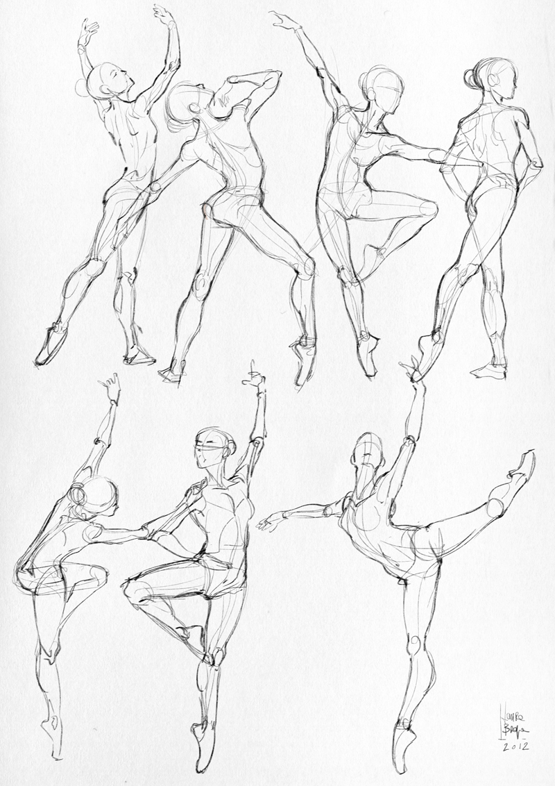 Laura Braga Anatomical Studies Moleskine Sketches
